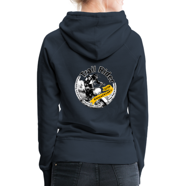 TrailRider 50th Anniversary- Women's Premium Hoodie - navy