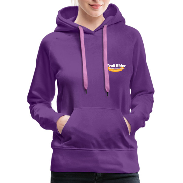 TrailRider 50th Anniversary- Women's Premium Hoodie - purple
