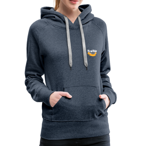 TrailRider 50th Anniversary- Women's Premium Hoodie - heather denim
