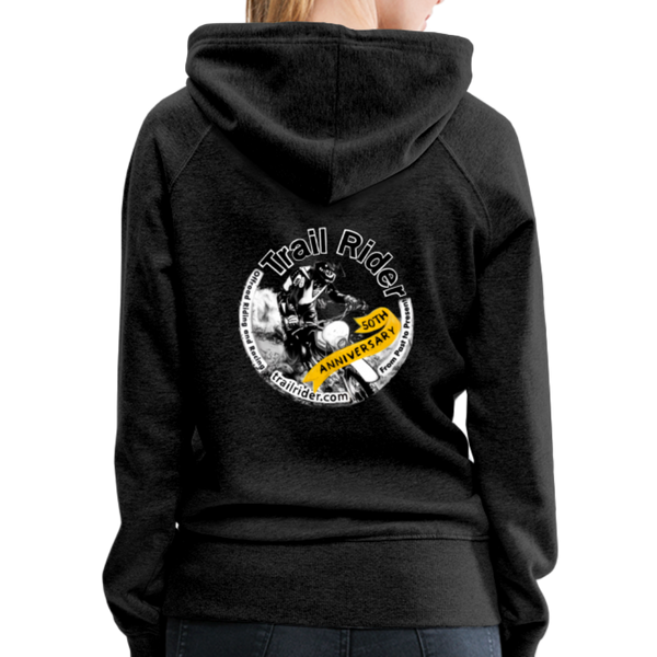 TrailRider 50th Anniversary- Women's Premium Hoodie - charcoal gray