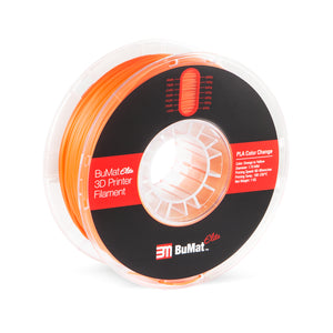 BuMat Elite Color Change by Temperature Filament - Orange to Yellow