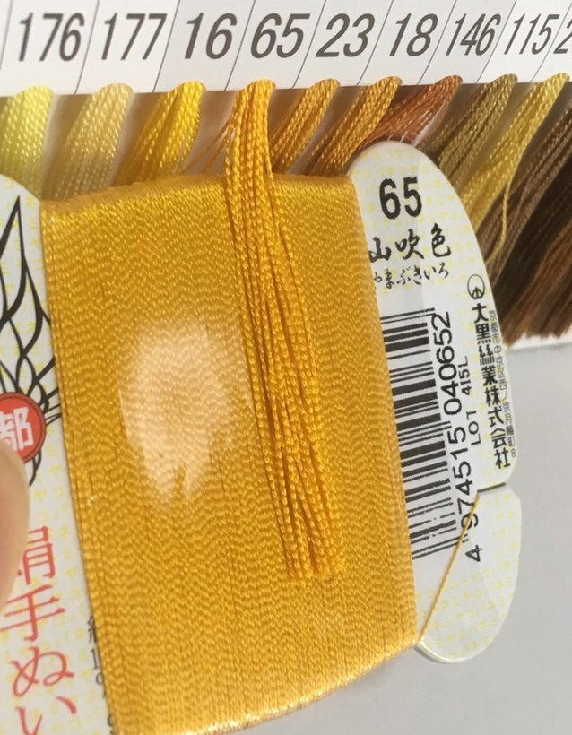 絹手縫い糸65番 Silk thread for hand sewing  / 40 meters : color number 65