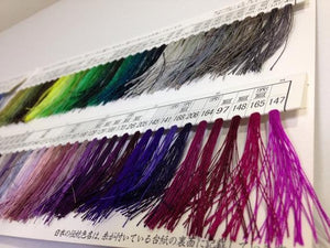 絹手縫い糸26番 Silk thread for hand sewing  / 40 meters : color number 26 / purple