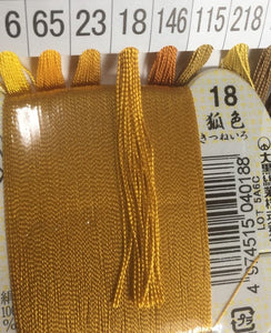 絹手縫い糸18番 Silk thread for hand sewing  / 40 meters : color number 18