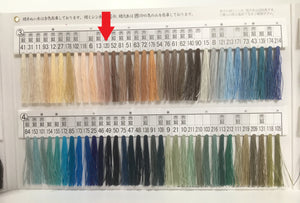 絹手縫い糸120番 Silk thread for hand sewing  / 40 meters : color number 120