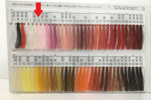 絹手縫い糸3番 Silk thread for hand sewing  / 40 meters : color number 3