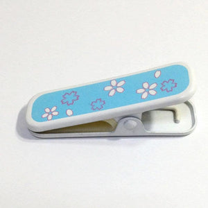 衿クリップ 青 Metal eri clip blue / Useful tool for wearing kimono