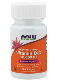 Vitamin D-3 10000 IU (120 Softgels)
