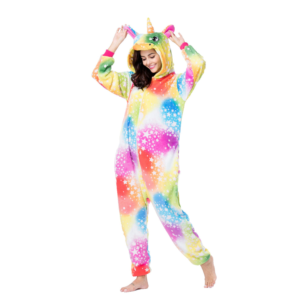 Funny Unique Designer Animal Pajamas For Women Unicorn Adult Onesie