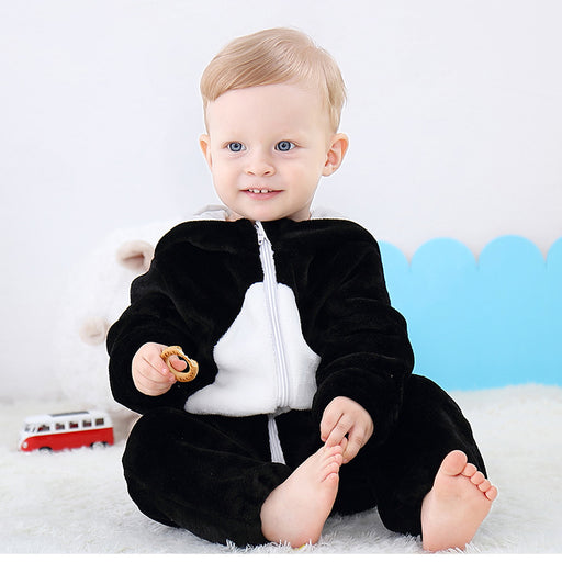 Funny Penguin Animal warm flannel Baby Onesie