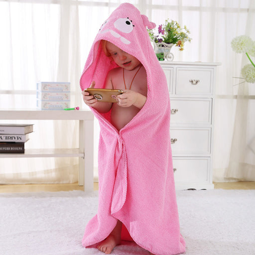 Younkiu bath towel cartoon animal Bear baby cloak children's Baby Onesie