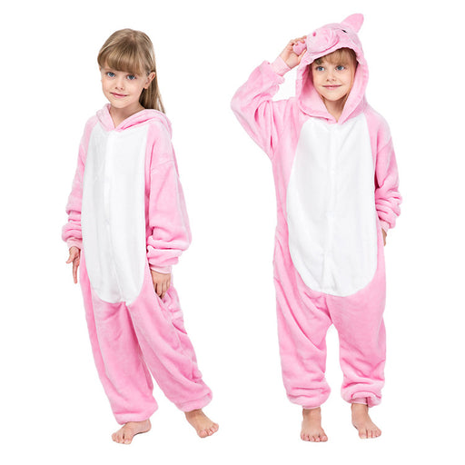 Younkiu Pink pig children's one-piece pajamas Kids Onesie
