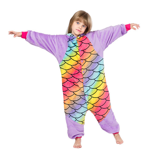 Younkiu Cross-border children cartoon Siamese pajamas Kids Onesie