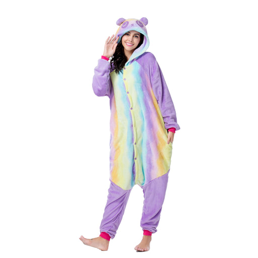 Funny Pink Pajamas For Women Full Body Unicorn Adult Rainbow Onesie