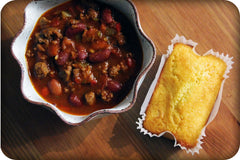 Great Harvest Bread Co Chili Mix and Jalapeno Cornbread