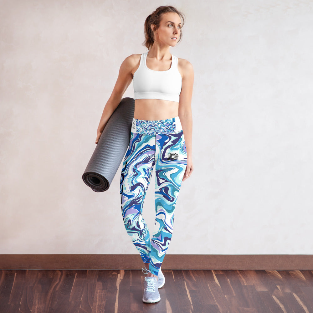 Blue Marble Yoga Leggings