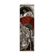 "Load image into Gallery viewer, Japanese ""Land of Samurai"" Wall Scroll Art"