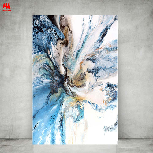 Ocean Abstract Canvas Print Wall Art