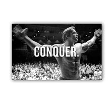 "Load image into Gallery viewer, Arnie ""Conquer"" Canvas Print"