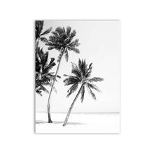 Load image into Gallery viewer, Black and White Beach Canvas Prints