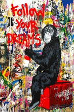 "Load image into Gallery viewer, Graffiti ""Follow Your Dreams"" Canvas Print"