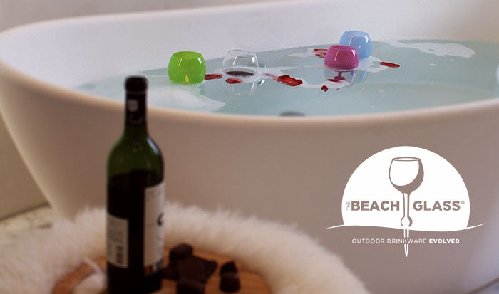 the beach glass floats