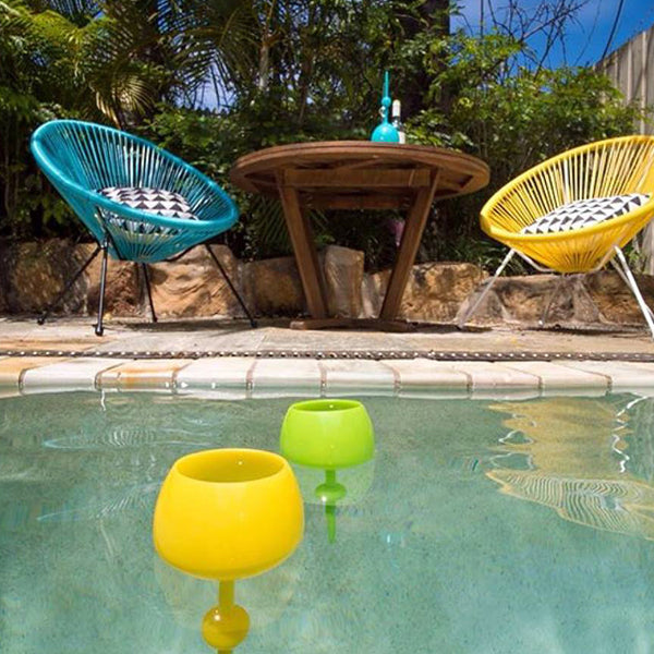 floating wine glass pool