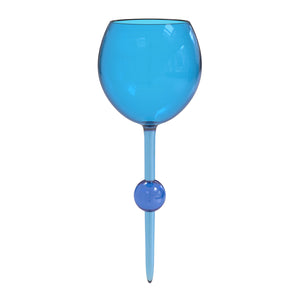 Cerulean Seas Original Beach Glass - the beach glass floating wine glass