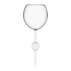 Crystal Clear Beach Glass - the beach glass floating wine glass