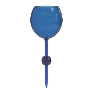 Indigo Skies Original Beach Glass - the beach glass floating wine glass