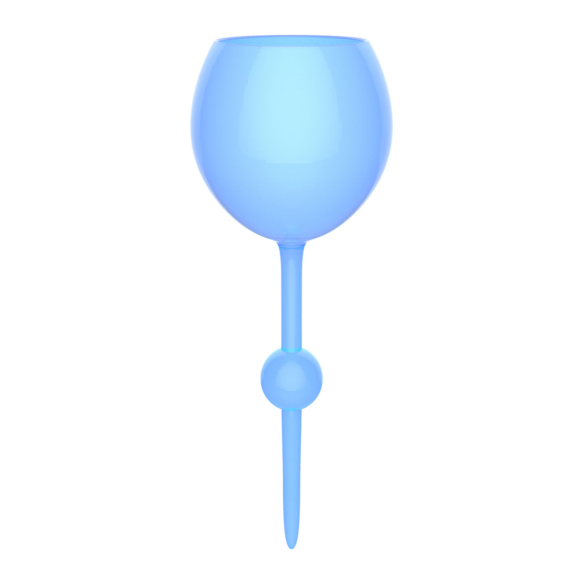 Ocean Blue Beach Glass - the beach glass floating wine glass