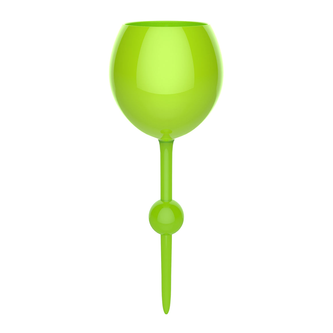 Sea Green Beach Glass - the beach glass floating wine glass