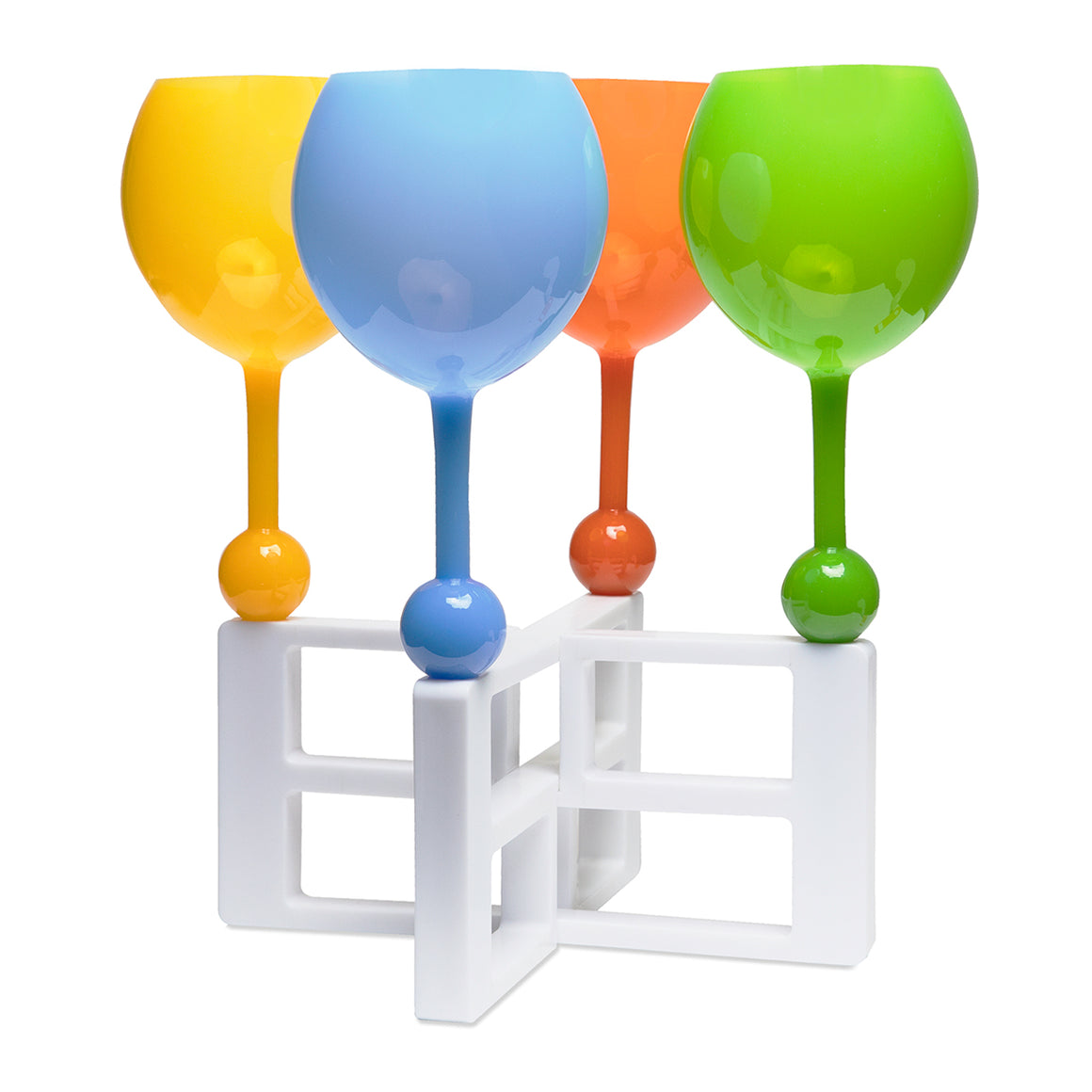 The Beach Glass Snap Server - the beach glass floating wine glass