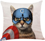 "yuzi-n Aquacat Throw Pillow Covers, Sofa Couch Decor, Home Decor, Children Room Decoration 18""x 18""Inch, Funny Cat Decor"