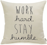 Meekio Farmhouse Pillow Covers with Together is Our Favorite Place to Be Quote 18 x 18 for Farmhouse Décor Housewarming Gifts New Home Gifts