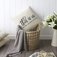 Meekio Farmhouse Pillow Covers with This is Us Quote 18 x 18 Inch for Farmhouse Decor Housewarming Gifts for New Home