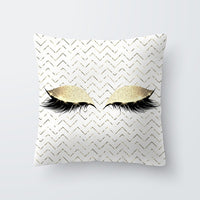 Marble Eye lash Decorative Throw Pillow Cushion Cover Home Decor Wedding Christmas Decoration Geometric Pink pillowcase 40594