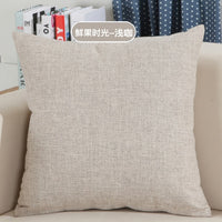 Solid Sofa waist Cushion Cover Pillow 30x50/40x40/45x45/40x60/50x50/55x55/60x60cm Cheaper Decorative Throw Pillowcase  for Home