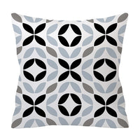 ZENGIA Nordic Cushion cover Polyester Gray Geometric pillow cover Sofa decorative Cushions 45*45 Home Decor Decorative Pillows
