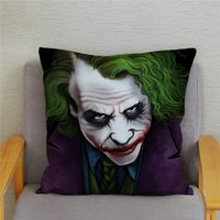 Super Soft Short Plush Cushion Cover 45*45 Square Pillow Covers HD Horror Clown Joker Print Pillows Cases Home Decor Pillowcase