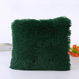New Solid Soft Fur Plush Decorative Cushion Cover For Home Pillow Case Bed Room Pillowcases Pillows Car Seat Decoration Sofa