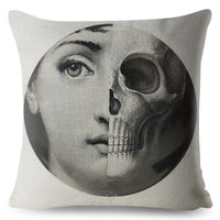 Funny Piero Fornasetti Pillow Cover 45*45cm Cushion Cover Lina Cavalieri Print Throw Pillows Cases Home Decor Cushion Covers
