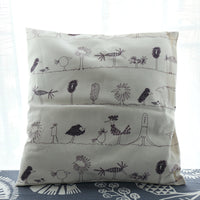 Budloom graffiti bird cushion covers bed/sofa decoration pillowcase kids room pillow covers handmade pillow shams