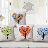 Cattoon Trees Flowers Cushion Cover Linen Cotton Pillowcase 45*45cm Decorative Pillow /pillow sham A15