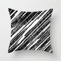 Fuwatacchi White and Black Stripe Wove Throw Pillow Case Geometric Cushion Covers for Home Sofa Chair Decorative Pillowcases New