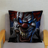 Terror Clown It Cushion Cover Super Soft Short Plush Pillow Case Horror Print Throw Pillowcase Sofa Home Decor Pillows Covers