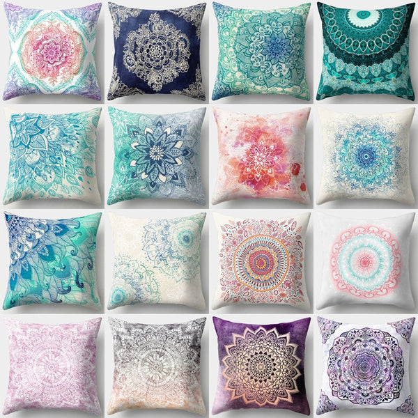 1Pcs Mandala Pattern Decorative Pillows Polyester Cushion Cover Home Living Room Decoration Sofa Decorative Pillow Cover 40508