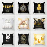 2019 New 1 PC Pillow case Easter Sofa Bed Home Decoration Festival Pillow Case cushion cover Pillow Cover Polyester 45cm*45cm