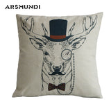 Nordic Cushion Cover Deer And Antlers Geometric Pillowcases Sham Home Sofa Bedding Decor Cushions Decor Throw Pillow Cover