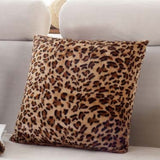 1Pcs Leopard Dots Leaf Pattern Soft Short Velvet Throw Pillow Cushion Cover Seat Car Home Sofa Bed Decorative Pillowcase 40058